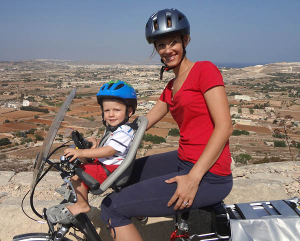 Lysanne and baby bike copy