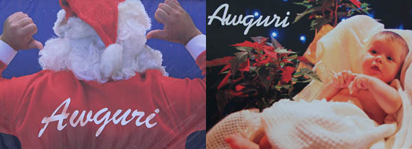 Christmas 'Auguri' billboards from Malta's political parties