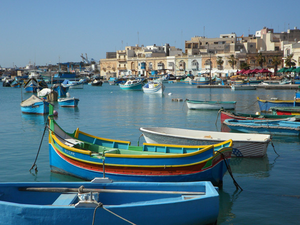 Fishing bay in Malta