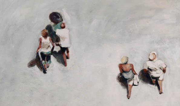 Celia Borg Cardona canvas: 'Height of the Tourist Season'.