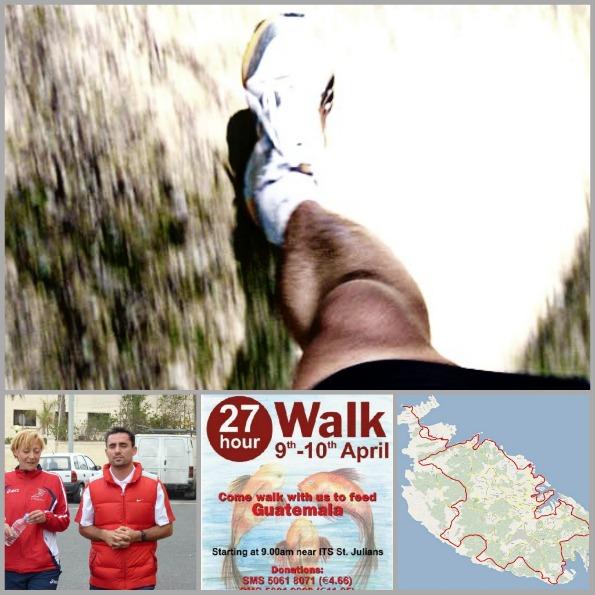 Charity walk Malta