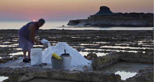 Salt Gather in Gozo by Mario George Vella
