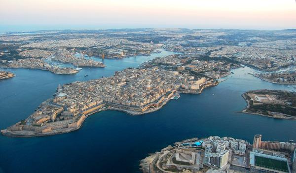 Valletta, Malta, aerial view